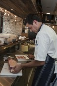 Jared Ingersoll in the kitchen at Cotton Duck