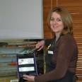 Healesville PS canteen manager Vikki Chandler serves lunch in a Stickybeak wallet