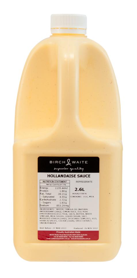 Hollandaise Sauce Bottle Hollandaise sauce