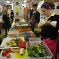 Hospitality students at work in the Merici College canteen