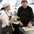 Entrant Jessica Wheeler and mentor Philippe Mouchel