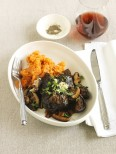Soy braised beef cheeks with sweet potato mash