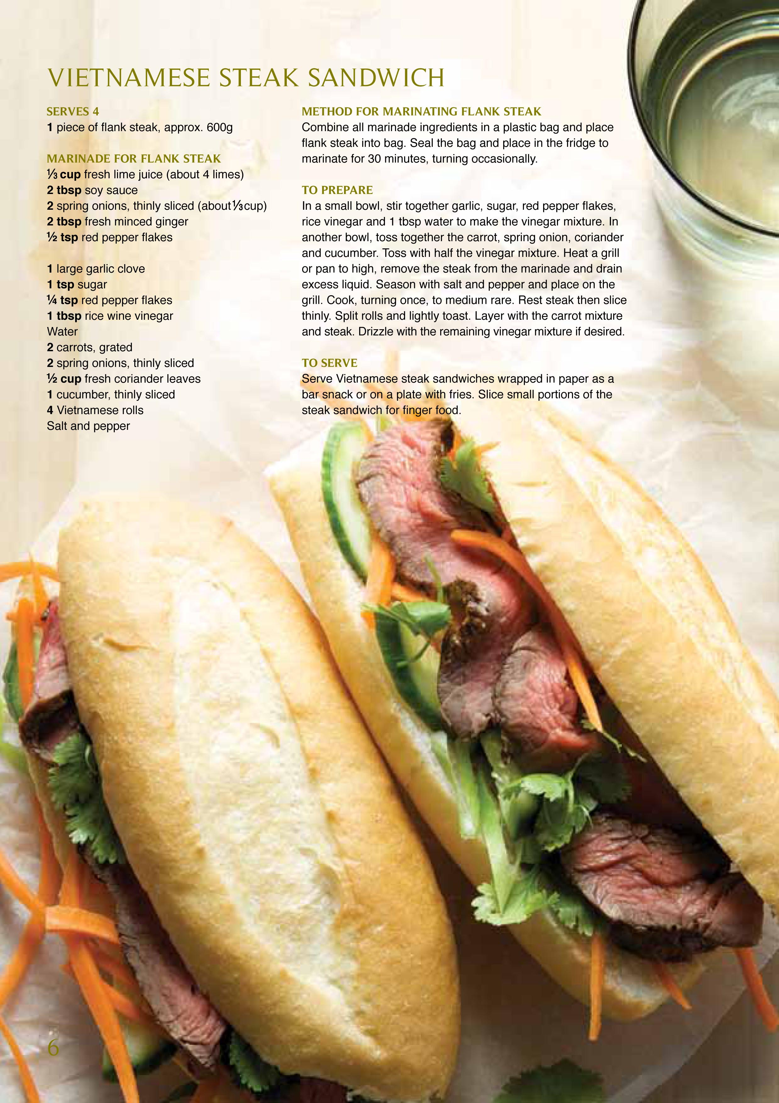 Foodservice Gateway » Vietnamese steak sandwich