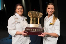 Photo: 2014 National Winners Tara Bain and Rachel Male.