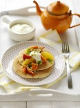 Pancakes with fruit by Tip Top Foodservice